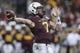 Dec 27, 2013; Houston, TX, USA; Minnesota Golden Gophers quarterback Mitch Leidner (7) passes during the third quarter of the Texas Bowl against the Syracuse Orange at Reliant Stadium . Mandatory Credit: Troy Taormina-USA TODAY Sports