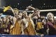 Dec 27, 2013; Houston, TX, USA; Minnesota Golden Gophers fans cheer during the fourth quarter of the Texas Bowl against the Syracuse Orange at Reliant Stadium . Mandatory Credit: Troy Taormina-USA TODAY Sports