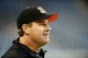Oct 20, 2013; Detroit, MI, USA; Cincinnati Bengals offensive coordinator Jay Gruden during the game against the Detroit Lions at Ford Field. Mandatory Credit: Andrew Weber-USA TODAY Sports