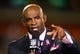 Oct 3, 2013; Cleveland, OH, USA; NFL television reporter Deion Sanders during an NFL game between the Buffalo Bills and Cleveland Browns at FirstEnergy Stadium. Mandatory Credit: Andrew Weber-USA TODAY Sports