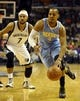 Dec 28, 2013; Memphis, TN, USA; Denver Nuggets shooting guard Randy Foye (4) handles the ball against the Memphis Grizzlies during the fourth quarter at FedExForum. Memphis Grizzlies beat the Denver Nuggets 120-99. Mandatory Credit: Justin Ford-USA TODAY Sports