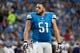 Dec 16, 2013; Detroit, MI, USA; Detroit Lions center Dominic Raiola (51) during the game against the Baltimore Ravens at Ford Field. Mandatory Credit: Tim Fuller-USA TODAY Sports