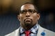 Dec 16, 2013; Detroit, MI, USA; ESPN broadcaster Ray Lewis on the Monday Night Countdown set before the NFL game between the Detroit Lions and the Baltimore Ravens at Ford Field. Mandatory Credit: Tim Fuller-USA TODAY Sports