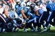 Dec 29, 2013; Nashville, TN, USA; Tennessee Titans linebacker Zach Brown (55) stops Houston Texans running back Jonathan grimes (41) during the second half at LP Field. The Titans won 16-10. Mandatory Credit: Don McPeak-USA TODAY Sports