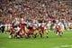 Dec 29, 2013; Phoenix, AZ, USA; San Francisco 49ers kicker Phil Dawson (9) kicks a 40 yard field goal to win the game against the Arizona Cardinals at University of Phoenix Stadium. Mandatory Credit: Matt Kartozian-USA TODAY Sports
