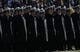 Dec 30, 2013; Fort Worth, TX, USA; Navy Midshipmen stand at attention before the game against the Middle Tennessee Blue Raiders  at Amon G. Carter Stadium.  Navy beat Middle Tennessee 24-6. Mandatory Credit: Tim Heitman-USA TODAY Sports