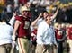 Dec 31, 2013; Shreveport, LA, USA; Boston College Eagles head coach Steve Addazio yells in the second half against the Arizona Wildcats at Independence Stadium. Arizona defeated Boston College 42-19. Mandatory Credit: Crystal LoGiudice-USA TODAY Sports