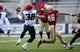 Dec 31, 2013; Shreveport, LA, USA; Arizona Wildcats safety Jared Tevis (38) intercepts a pass intended for Arizona Wildcats safety Blake Brady (46) at Independence Stadium. Arizona defeated Boston College 42-19. Mandatory Credit: Crystal LoGiudice-USA TODAY Sports