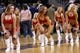 Jan 1, 2014; Washington, DC, USA;  Washington Wizards Girls dance on the court during a stoppage in play against the Dallas Mavericks at Verizon Center. The Mavericks won 87-78. Mandatory Credit: Geoff Burke-USA TODAY Sports