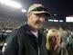 Jan 1, 2014; Pasadena, CA, USA; Arizona Diamondbacks manager and Michigan State Spartans alumnus Kirk Gibson (left) and wife JoAnn Sklarski attend the 100th Rose Bowl. Mandatory Credit: Kirby Lee-USA TODAY Sports