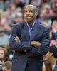 Jan 2, 2014; Salt Lake City, UT, USA; Milwaukee Bucks head coach Larry Drew during the first half against the Utah Jazz at EnergySolutions Arena. Mandatory Credit: Russ Isabella-USA TODAY Sports