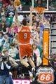 Jan 2, 2014; Salt Lake City, UT, USA; Milwaukee Bucks center Miroslav Raduljica (9) shoots against Utah Jazz shooting guard Gordon Hayward (20) during the second half at EnergySolutions Arena. The Jazz won 96-87. Mandatory Credit: Russ Isabella-USA TODAY Sports