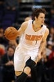 Jan 2, 2014; Phoenix, AZ, USA; Phoenix Suns guard Goran Dragic (1) dribbles the ball up the court against the Memphis Grizzlies in the second half at US Airways Center. The Grizzlies won 99-91. Mandatory Credit: Jennifer Stewart-USA TODAY Sports