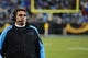 Dec 15, 2013; Charlotte, NC, USA; Carolina Panthers head coach Ron Rivera on the sidelines in the fourth quarter. The Panthers defeated the Jets 30-20 at Bank of America Stadium. Mandatory Credit: Bob Donnan-USA TODAY Sports