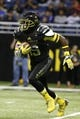 Jan 4, 2014; San Antonio, TX, USA; East wide receiver Artavis Scott (19) runs with the ball during U.S. Army All-American Bowl high school football game at the Alamodome. Mandatory Credit: Soobum Im-USA TODAY Sports