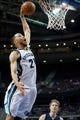 Jan 5, 2014; Auburn Hills, MI, USA; Memphis Grizzlies small forward Tayshaun Prince (21) dunks the ball during the third quarter against the Detroit Pistons at The Palace of Auburn Hills. The Grizzlies won 112-84. Mandatory Credit: Tim Fuller-USA TODAY Sports