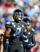 Dec 31, 2013; El Paso, TX, USA; UCLA Bruins wide receiver Devin Fuller (7) during the game against the Virginia Tech Hokies in the 2013 Sun Bowl at Sun Bowl Stadium. UCLA defeated Virginia Tech 42-12. Mandatory Credit: Andrew Weber-USA TODAY Sports