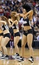 Jan 7, 2014; Sacramento, CA, USA; Sacramento Kings dancers perform during a timeout against the Portland Trail Blazers during the third quarter at Sleep Train Arena. The Sacramento Kings defeated the Portland Trail Blazers 123-119. Mandatory Credit: Kelley L Cox-USA TODAY Sports