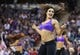 Jan 7, 2014; Sacramento, CA, USA; Sacramento Kings dancer performs during a timeout against the Portland Trail Blazers during the fourth quarter at Sleep Train Arena. The Sacramento Kings defeated the Portland Trail Blazers 123-119. Mandatory Credit: Kelley L Cox-USA TODAY Sports