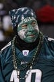 Jan 4, 2014; Philadelphia, PA, USA; A Philadelphia Eagles fan prior to the game against the New Orleans Saints during the 2013 NFC wild card playoff football game at Lincoln Financial Field. The Saints defeated the Eagles 26-24. Mandatory Credit: Howard Smith-USA TODAY Sports