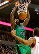 Jan 11, 2014; Portland, OR, USA; Boston Celtics power forward Brandon Bass (30) dunks against the Portland Trail Blazers at the Moda Center. Mandatory Credit: Craig Mitchelldyer-USA TODAY Sports