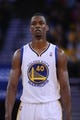December 3, 2013; Oakland, CA, USA; Golden State Warriors small forward Harrison Barnes (40) looks on during the second quarter against the Toronto Raptors at Oracle Arena. The Warriors defeated the Raptors 112-103. Mandatory Credit: Kyle Terada-USA TODAY Sports