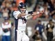 Dec 29, 2013; Oakland, CA, USA; Denver Broncos quarterback Peyton Manning (18) calls an audible in the second quarter against the Oakland Raiders at O.co Coliseum. Mandatory Credit: Kirby Lee-USA TODAY Sports