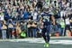 Dec 29, 2013; Seattle, WA, USA; Seattle Seahawks running back Marshawn Lynch (24) after scoring a touchdown against the St. Louis Rams during the game at CenturyLink Field. Seattle defeated St. Louis 27-9. Mandatory Credit: Steven Bisig-USA TODAY Sports
