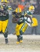 Dec 22, 2013; Green Bay, WI, USA; Green Bay Packers running back Eddie Lacy (27) during the game against the Pittsburgh Steelers at Lambeau Field.  Pittsburgh won 38-31.  Mandatory Credit: Jeff Hanisch-USA TODAY Sports