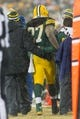 Dec 22, 2013; Green Bay, WI, USA; Green Bay Packers running back Eddie Lacy (27) limps off the field during the game against the Pittsburgh Steelers at Lambeau Field.  Pittsburgh won 38-31.  Mandatory Credit: Jeff Hanisch-USA TODAY Sports