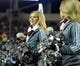 Dec 31, 2013; Memphis, TN, USA; Mississippi State Bulldogs cheerleaders during the game against the Rice Owls at Liberty Bowl Memorial Stadium. Mississippi State Bulldogs beat Rice Owls 44 - 7. Mandatory Credit: Justin Ford-USA TODAY Sports