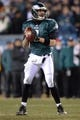 Jan 4, 2014; Philadelphia, PA, USA; Philadelphia Eagles quarterback Nick Foles (9) against the New Orleans Saints during the 2013 NFC wild card playoff football game at Lincoln Financial Field. The New Orleans Saints won the game 26-24. Mandatory Credit: Joe Camporeale-USA TODAY Sports