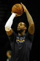 Jan 7, 2014; Memphis, TN, USA; Memphis Grizzlies power forward James Johnson (3) warms up before the game against the San Antonio Spurs at FedExForum. the San Antonio Spurs beat the Memphis Grizzlies 110 - 108 Mandatory Credit: Justin Ford-USA TODAY Sports