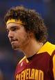 Dec 13, 2013; Orlando, FL, USA; Cleveland Cavaliers center Anderson Varejao (17) against the Orlando Magic at Amway Center. Mandatory Credit: Kim Klement-USA TODAY Sports