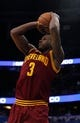 Dec 13, 2013; Orlando, FL, USA; Cleveland Cavaliers shooting guard Dion Waiters (3) shoots against the Orlando Magic during the second quarter at Amway Center. Mandatory Credit: Kim Klement-USA TODAY Sports