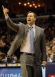 Jan 7, 2014; Memphis, TN, USA; Memphis Grizzlies head coach David Joerger during the game against the San Antonio Spurs at FedExForum. the San Antonio Spurs beat the Memphis Grizzlies 110 - 108 Mandatory Credit: Justin Ford-USA TODAY Sports