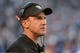 Dec 22, 2013; San Diego, CA, USA; Oakland Raiders coach Dennis Allen reacts during the game against the San Diego Chargers at Qualcomm Stadium. Mandatory Credit: Kirby Lee-USA TODAY Sports