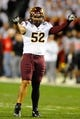 Dec 30, 2013; San Diego, CA, USA; Arizona State Sun Devils linebacker Carl Bradford (52) during the first half against the Texas Tech Red Raiders during the first half in the Holiday Bowl at Qualcomm Stadium. Mandatory Credit: Christopher Hanewinckel-USA TODAY Sports