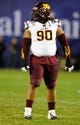 Dec 30, 2013; San Diego, CA, USA; Arizona State Sun Devils defensive tackle Will Sutton (90) during the first half against the Texas Tech Red Raiders during the first half in the Holiday Bowl at Qualcomm Stadium. Mandatory Credit: Christopher Hanewinckel-USA TODAY Sports