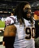 Dec 30, 2013; San Diego, CA, USA; Arizona State Sun Devils defensive tackle Will Sutton (90) prior to the game against the Texas Tech Red Raiders during the first half in the Holiday Bowl at Qualcomm Stadium. Mandatory Credit: Christopher Hanewinckel-USA TODAY Sports