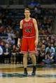 Jan 10, 2014; Milwaukee, WI, USA; Chicago Bulls forward Mike Dunleavy (34) during the game against the Milwaukee Bucks at BMO Harris Bradley Center.  Chicago won 81-72.  Mandatory Credit: Jeff Hanisch-USA TODAY Sports