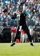 Dec 22, 2013; Jacksonville, FL, USA; Jacksonville Jaguars quarterback Chad Henne (7) throws the ball against the Tennessee Titans during the second half at EverBank Field. Tennessee Titans defeated the Jacksonville Jaguars 20-16.  Mandatory Credit: Kim Klement-USA TODAY Sports