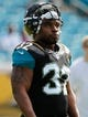 Dec 22, 2013; Jacksonville, FL, USA; Jacksonville Jaguars running back Maurice Jones-Drew (32) against the Tennessee Titans works out prior to the game at EverBank Field. Mandatory Credit: Kim Klement-USA TODAY Sports