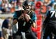 Dec 22, 2013; Jacksonville, FL, USA; Jacksonville Jaguars quarterback Chad Henne (7) drops back against the Tennessee Titans during the first half at EverBank Field. Mandatory Credit: Kim Klement-USA TODAY Sports