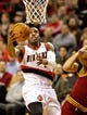Jan 15, 2014; Portland, OR, USA; Portland Trail Blazers shooting guard Wesley Matthews (2) shoots the ball against the Cleveland Cavaliers at the Moda Center. Mandatory Credit: Craig Mitchelldyer-USA TODAY Sports