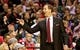 Jan 15, 2014; Portland, OR, USA; Portland Trail Blazers head coach Terry Stotts gestures to the bench during the second quarter against the Cleveland Cavaliers at the Moda Center. Mandatory Credit: Craig Mitchelldyer-USA TODAY Sports