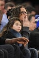 Jan 17, 2014; New York, NY, USA; Recording artist Chris Cornell attends the game between the New York Knicks and the Los Angeles Clippers during the first half at Madison Square Garden. The Los Angeles Clippers won 109-94. Mandatory Credit: Joe Camporeale-USA TODAY Sports