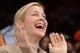 Jan 17, 2014; New York, NY, USA; Kelly Rutherford attends the game between the New York Knicks and the Los Angeles Clippers during the first half at Madison Square Garden. The Los Angeles Clippers won 109-94. Mandatory Credit: Joe Camporeale-USA TODAY Sports