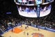 Jan 17, 2014; New York, NY, USA; A general view during the game between the New York Knicks and the Los Angeles Clippers during the second half at Madison Square Garden. The Los Angeles Clippers won 109-94. Mandatory Credit: Joe Camporeale-USA TODAY Sports