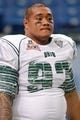 Dec 23, 2013; St. Petersburg, FL, USA; Ohio Bobcats defensive lineman Cleon Aloese (92) works out prior to the game against the East Carolina Pirates during the 2013 Beef O Bradys Bowl at Tropicana Field. Mandatory Credit: Kim Klement-USA TODAY Sports